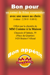 Bon pour 1 frite suspendue