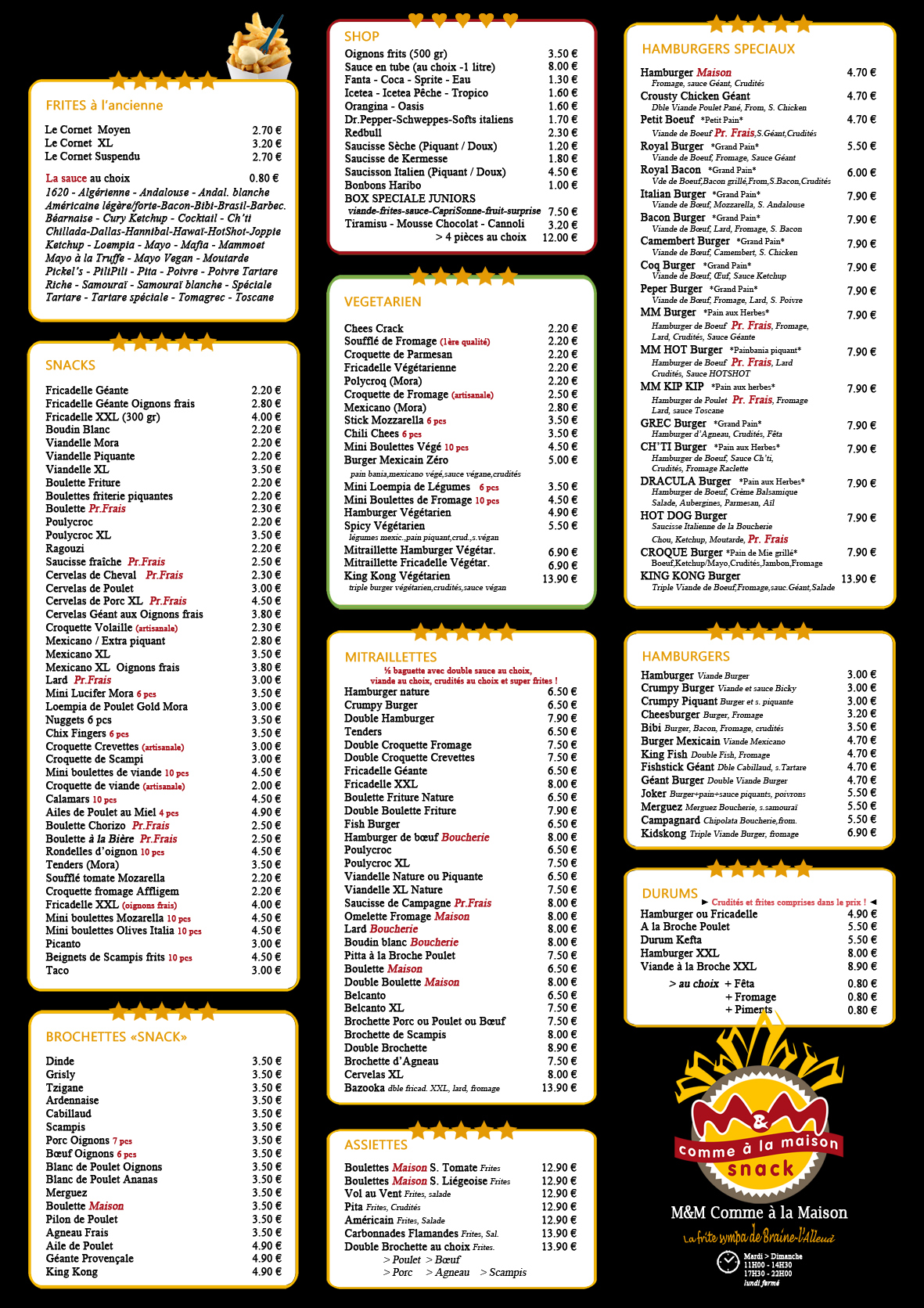MM Comme à la Maison - menu TakeAway